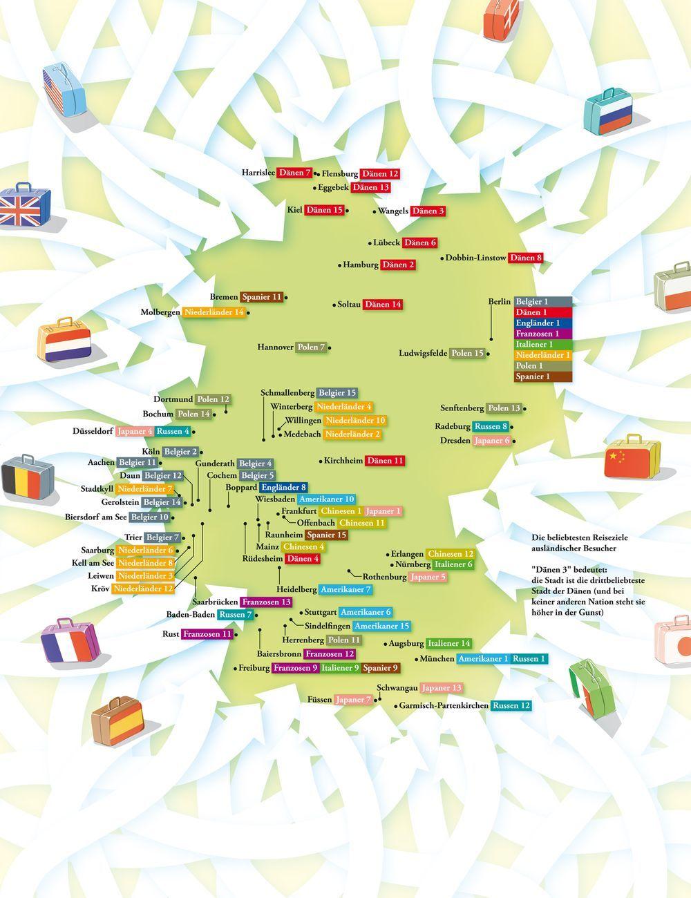 Deutschlandkarte Liebste Reiseziele Deutschlandkarte Karten