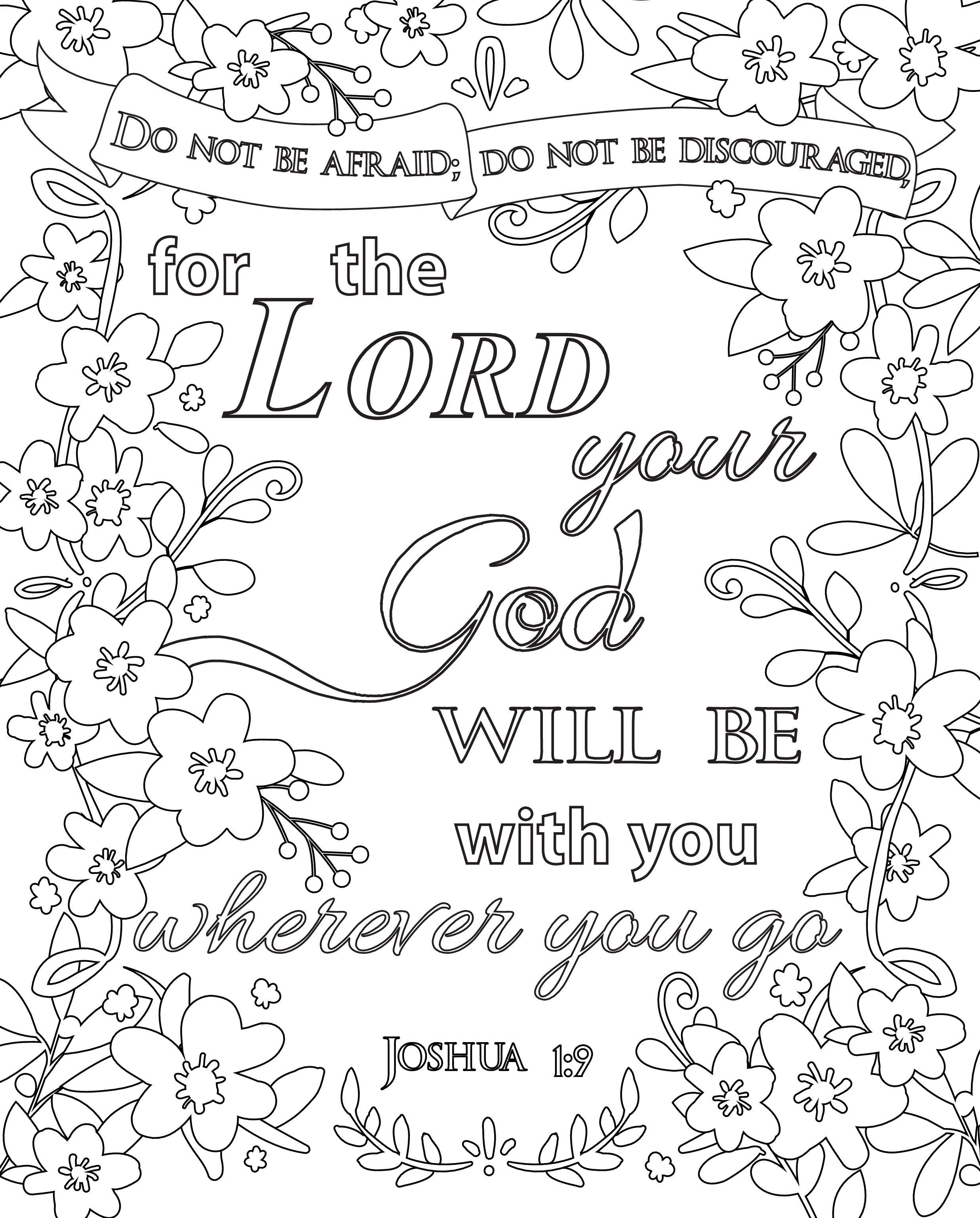 Free Printable Scripture Coloring Pages With Images