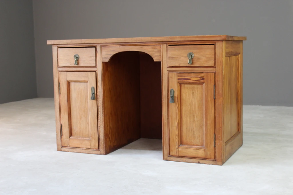 Pitch Pine Desk In 2020