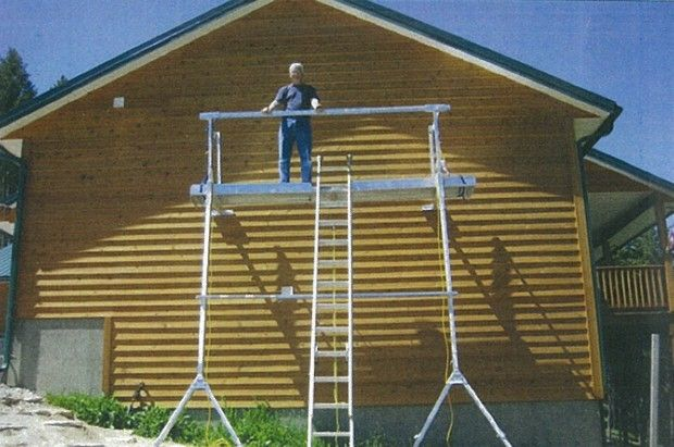 Bitterrooter Invents User Friendly Scaffolding It Can Be Set Up By One Person And Moved By One Person Way To Scaffolding Remodeling Tools Home Construction