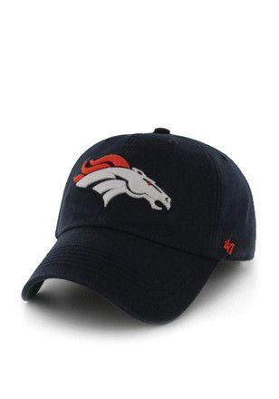 27dc4c60 Denver '47 Mens Navy Blue `47 Franchise Fitted Hat | NFL - Denver ...