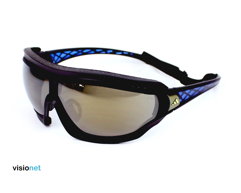 new style ed084 81169 Lunettes de soleil Adidas A 196 Plastique Noir mat - Bleu - 176 EUR