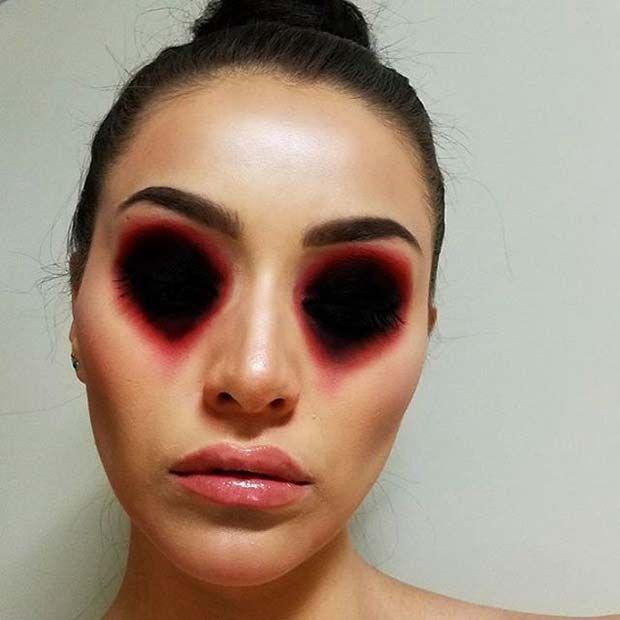 12 creative diy halloween makeup ideas 1 missing eyes makeup halloweenmakeup