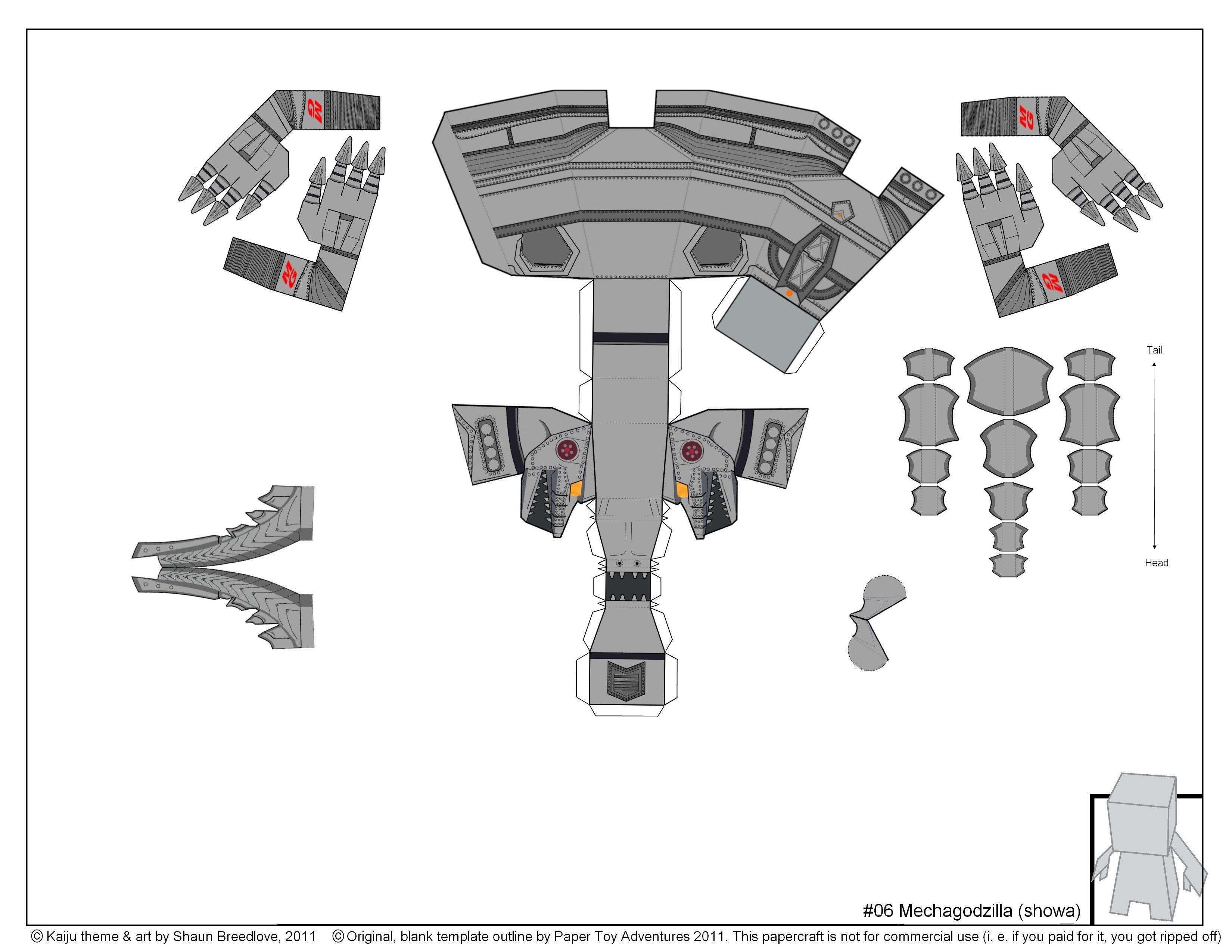 Mechagodzilla  Template Craft