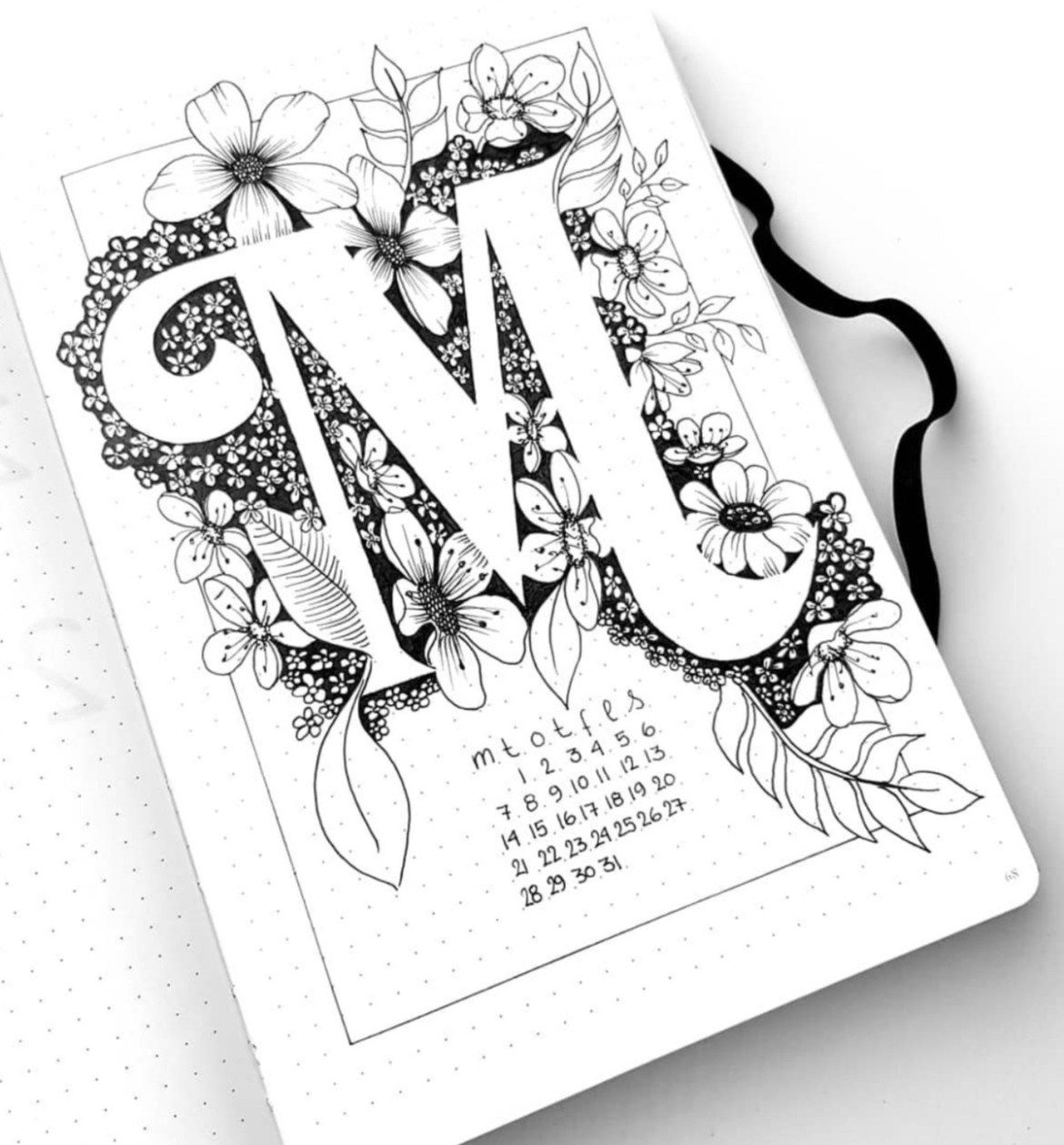 12 Gorgeous Bullet Journal Calendar Ideas - Live Better Lifestyle