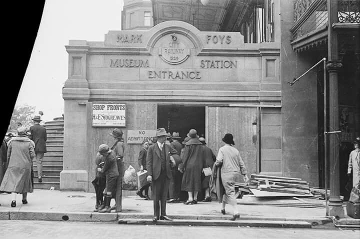 Entrance to Museum Railway Station in the 1930s