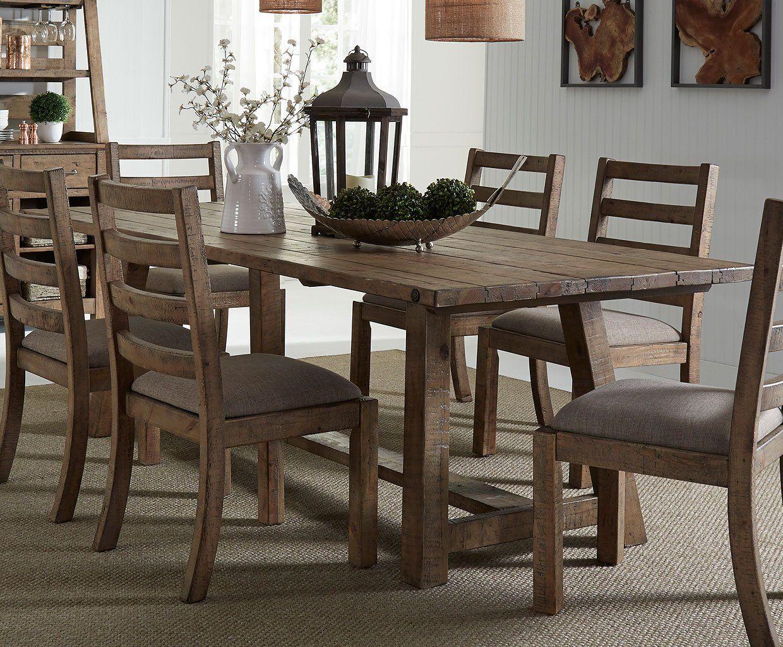 Prescott Valley 77 Inch Dining Table Honey Trestle Dining