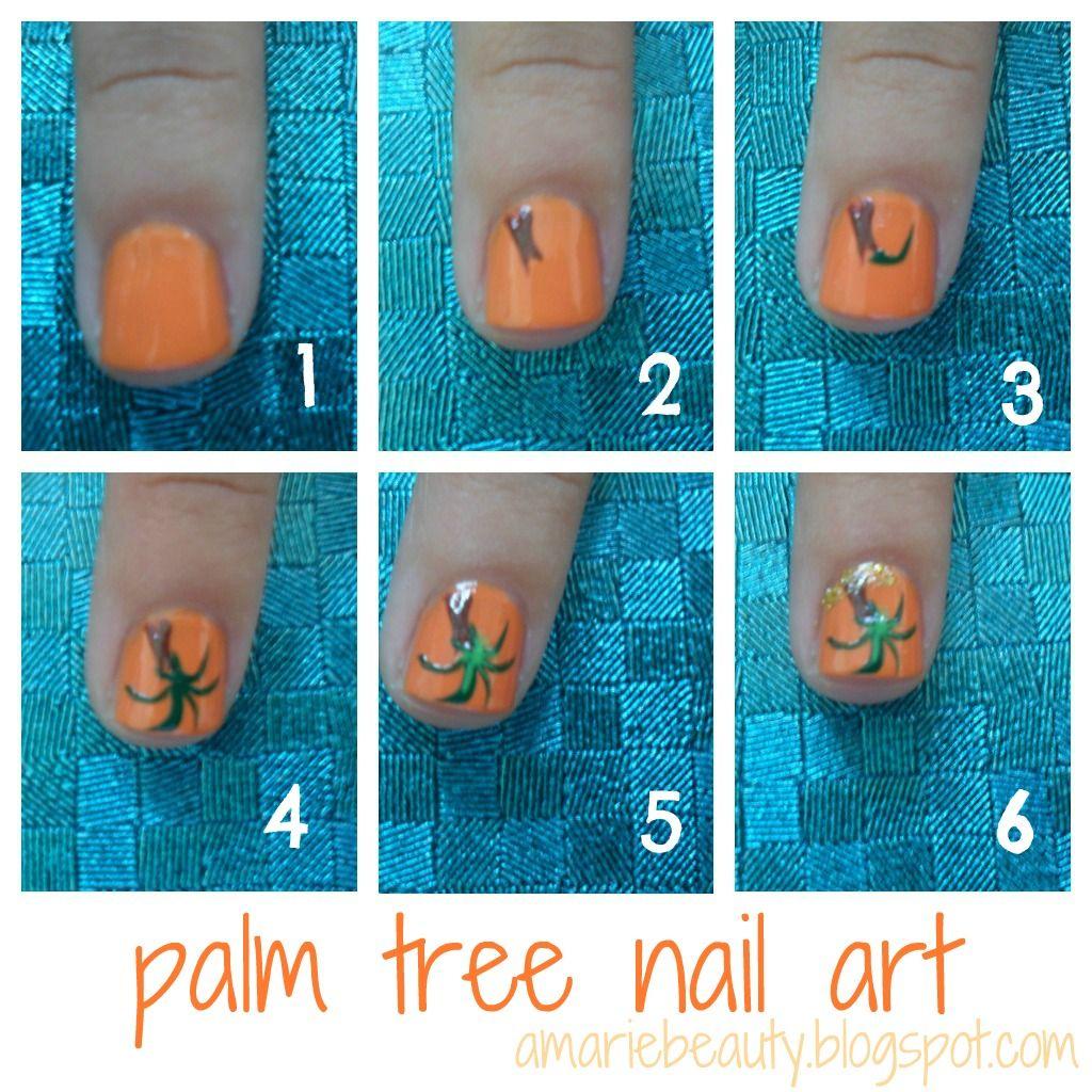 steps to do palm tree nails   amariebeauty: Palm Tree Nail Art ...