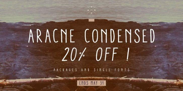 Aracne Condensed font download | Fonts | Condensed font