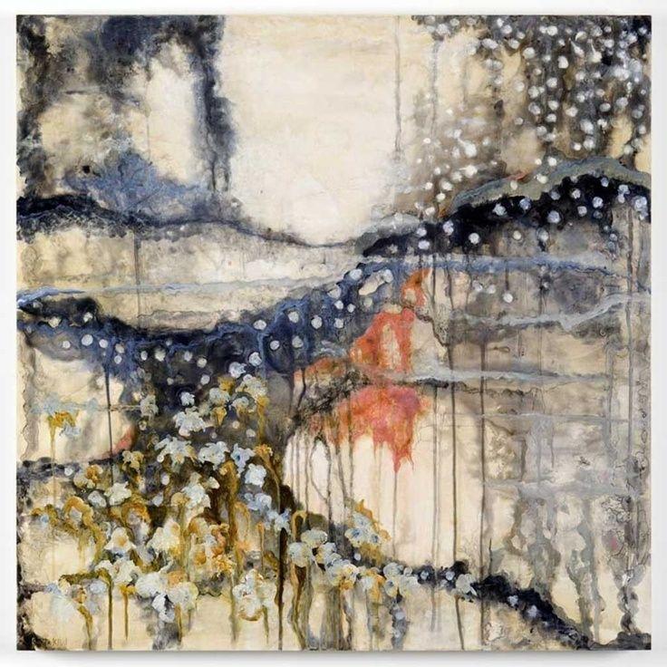 """""""Obsidian Winter Bloom"""" - Pintura abstracta de Ritta Klint"""