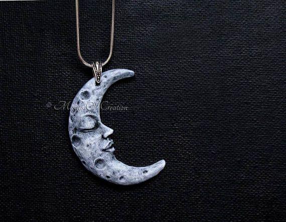 Cadeau Damant De Lune Pendentif Croissant De Lune Pate Pendant Pendant Necklace Jewelry
