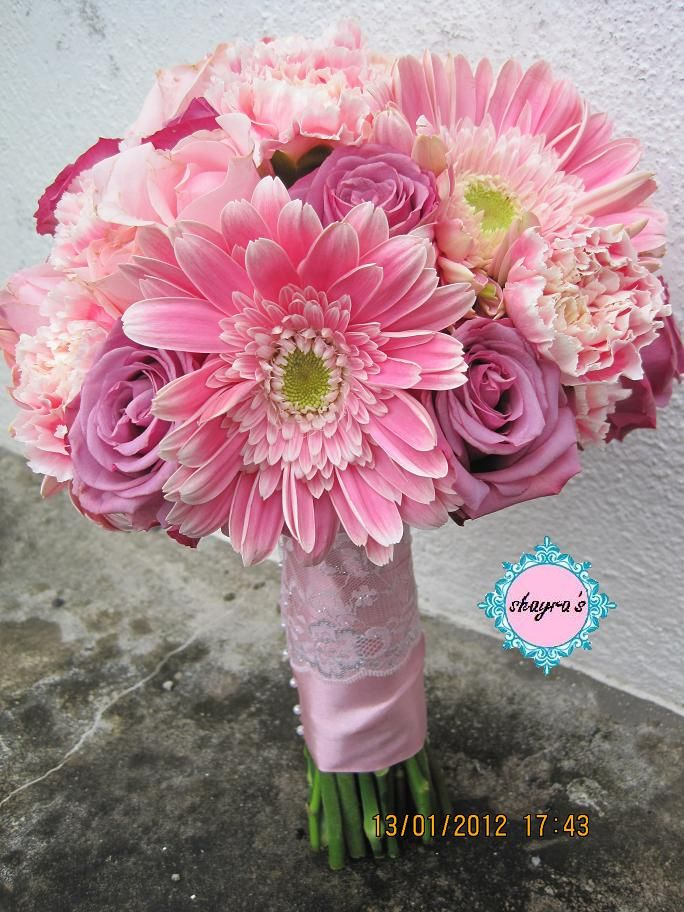 January 2012 Gerbera Bridal Bouquet Flower Bouquet Wedding Gerber Daisy Bouquet Wedding