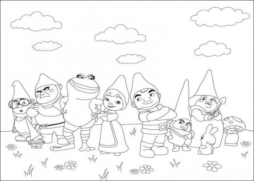 free gnomeo and juliet coloring pages