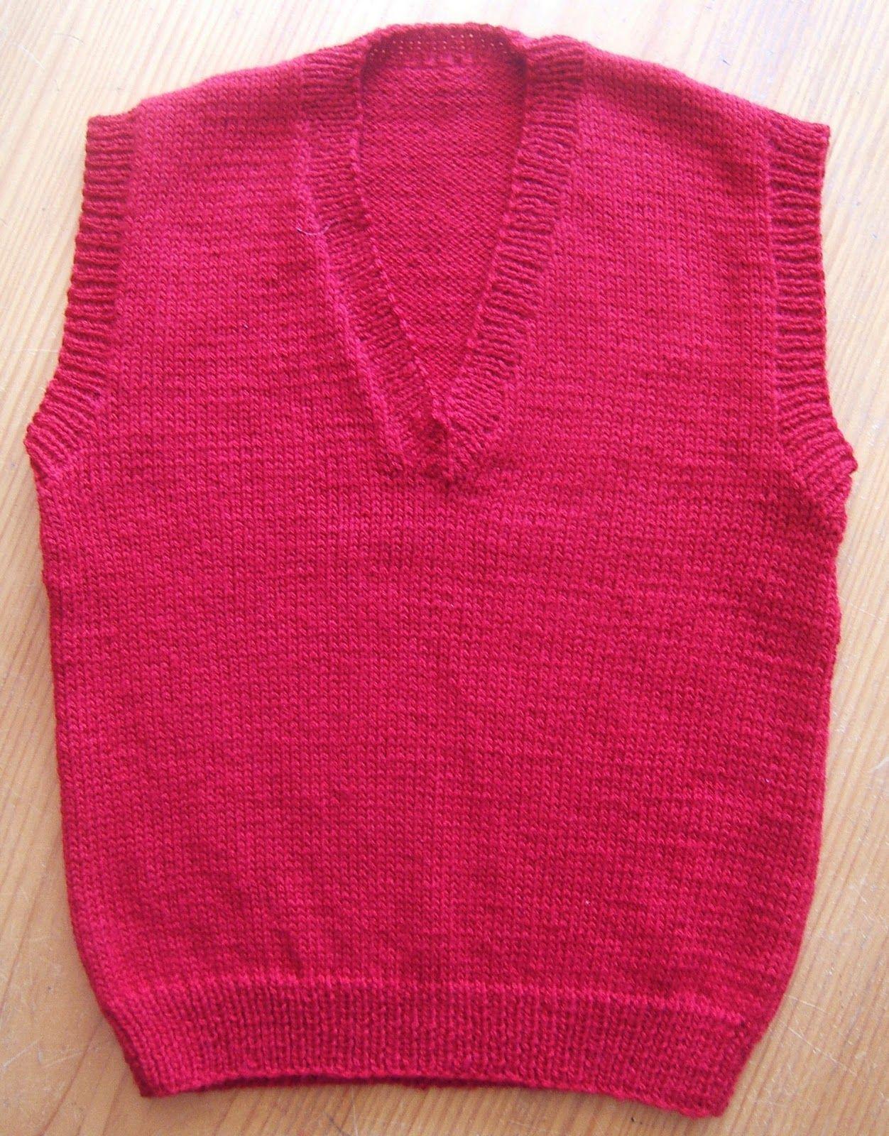 Childs Vest | Knit vest pattern free, Knit vest pattern ...