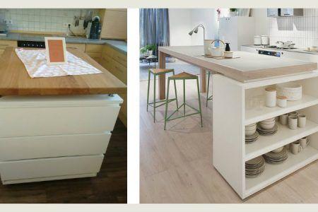 25 idee su come creare una penisola in cucina con mobili for Costruire isola cucina