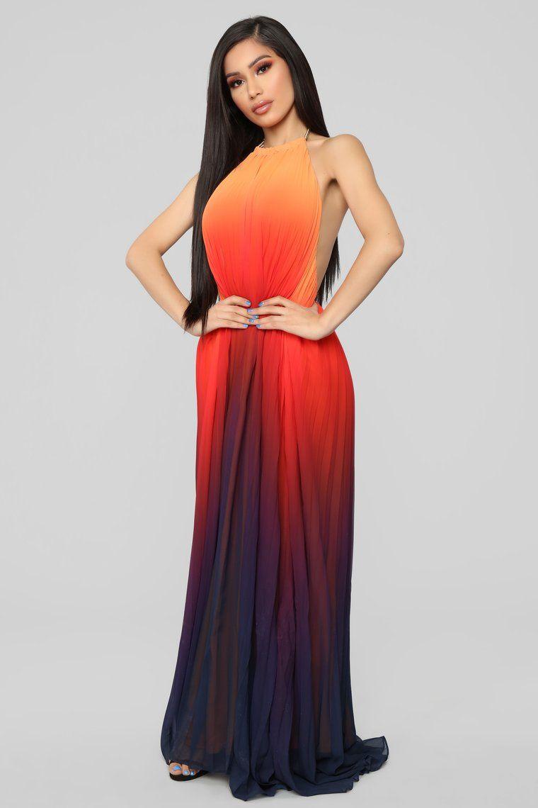 9fa6d2629af Sunset Ombre Dress - Orange Ombre in 2019