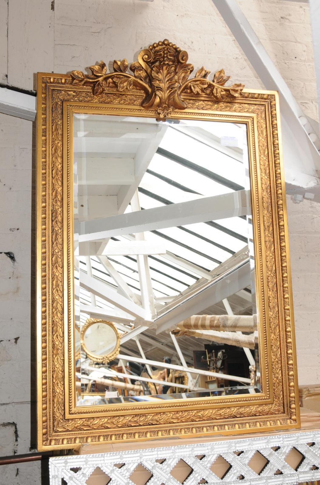 Large Georgian Gilt Pier Mirror Glass Mirrors