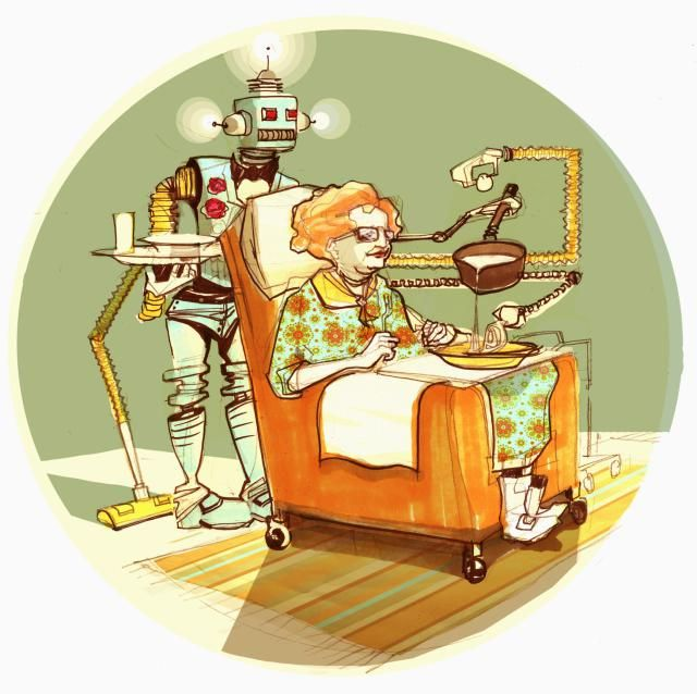 Elderly care may soon be outsourced to robots to alleviate the scarcity of human caregivers & provide a safer and healthier life for those in need.