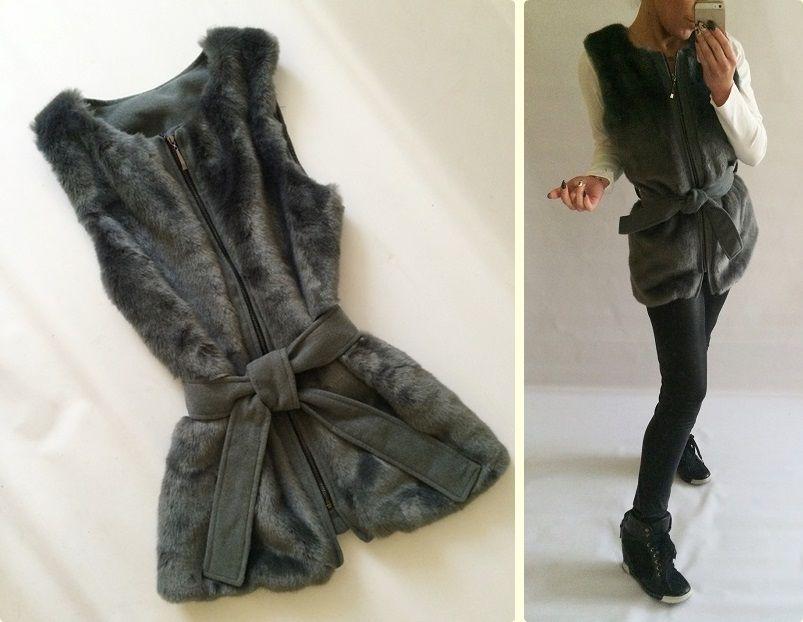 Kamizelka Wloska Futerko Nowosc Unikatowa Szara 4937947942 Oficjalne Archiwum Allegro Fashion Style Leather
