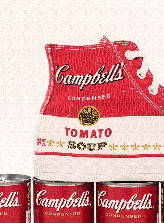 Converse x Andy Warhol Tomato Soup Collection ► Dropping Feb 7th at Converse.com. The collection combines Warhol's iconic images with the famous high top Chucks.