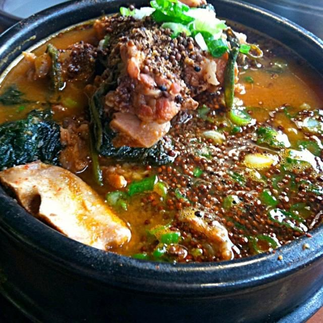 Spicy pork bone & potato stew - 69件のもぐもぐ - 감잩탕 by Juliee ~ ジュリー