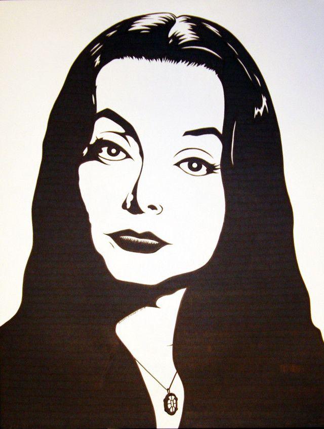 Carolyn Jones Morticia Addams Drawing