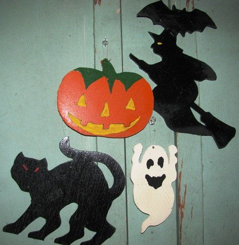 JackOLantern Hand Painted Pumpkin Black Cat by TheIDconnection, $12.00