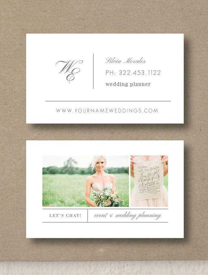 Business Card Template For Wedding Planners Eucalyptus