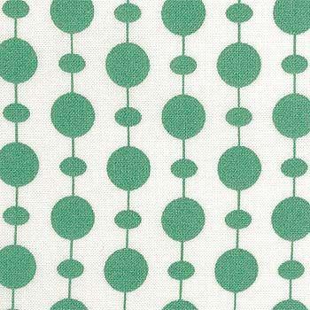 bomull Hvit m grønne perler på snor