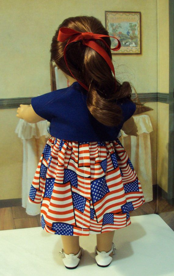 American Girl Patriotic Lady Sundress and jacket by craftymagaw