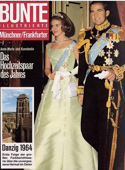 1964 Konig Konstantin Von Griechenland Und Anne Marie Von Danemark Greek Royal Family Royal Weddings Greek Royalty