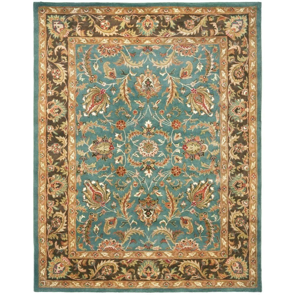 Safavieh Heritage Blue/Brown 7 ft. 6 in. x 9 ft. 6 in. Area Rug-HG812B-8 - The Home Depot
