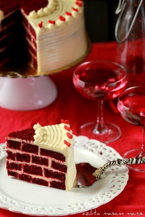 Red Velvet Brick Cake Sweet Cakes Traditional Cakes Cupcake Cakes