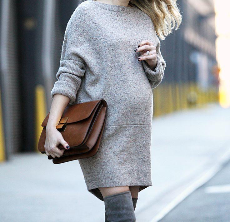 Multifunctional via http://BrooklynBlonde.com / @Helena Glazer Sweater Dress: Hatch (worn as a sweater) | Boots: Stuart Weitzman | Sunglasses: Celine Wednesday, February 24, 2016
