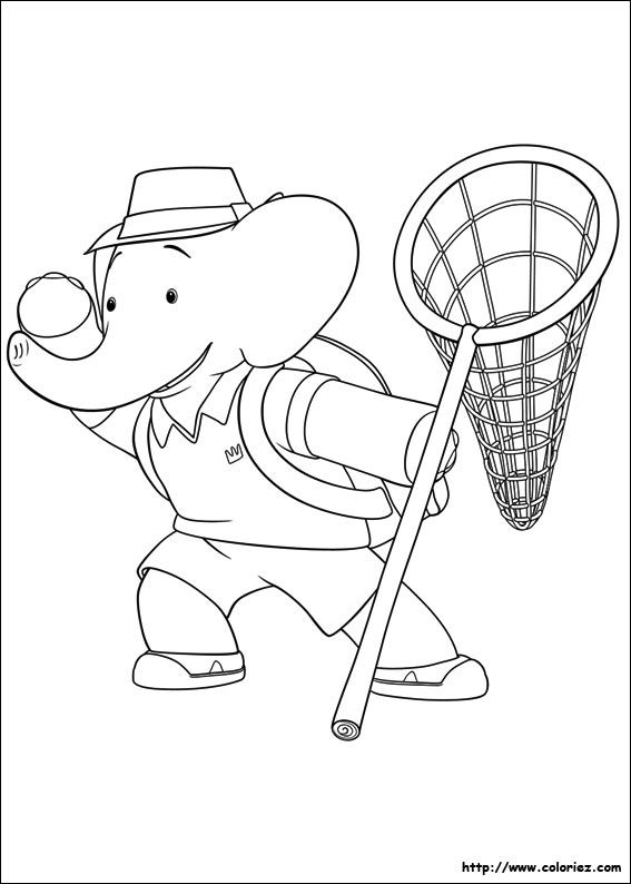Epingle Par Majamorkholt Sur Babar Coloring Pages Coloriage Enfant Coloriage Elephant