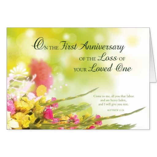 1st death anniversary cards