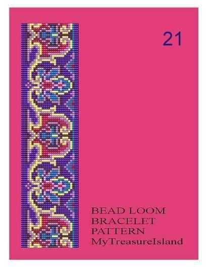Grano telar Vintage adorno 18 21 22 pulsera de por MyTreasureIsland