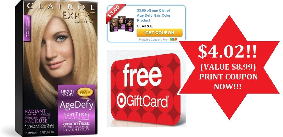Target Clairol Hair Color Only 4 02 Value 8 99 Coupon Set To Expire Today Print Now Clairol Hair Color Clairol Hair Clairol