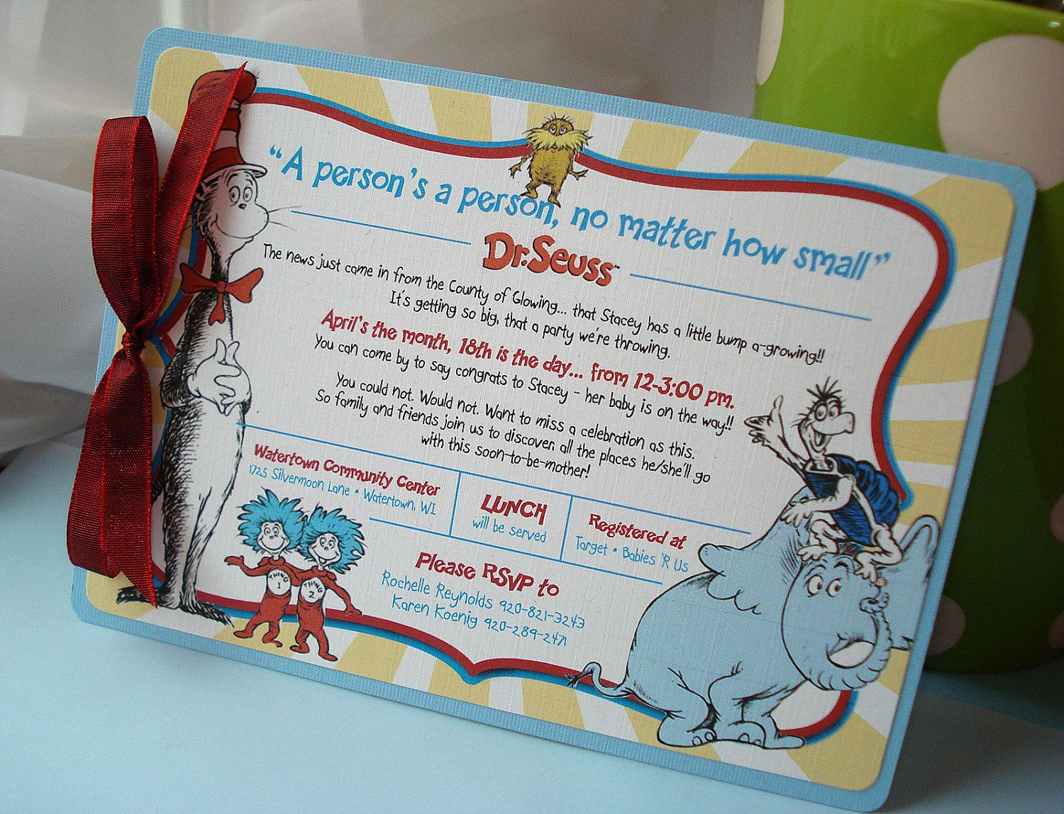 c7fdae018235 A Person s A Person Dr Suess Layered Baby Shower by envymarketing ...