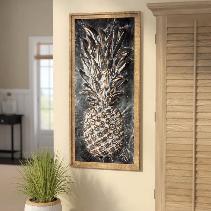 Metal Pineapple Wall Décor In 2020 Pineapple Wall Decor Pineapple Decor Bedroom Pineapple Wall Art