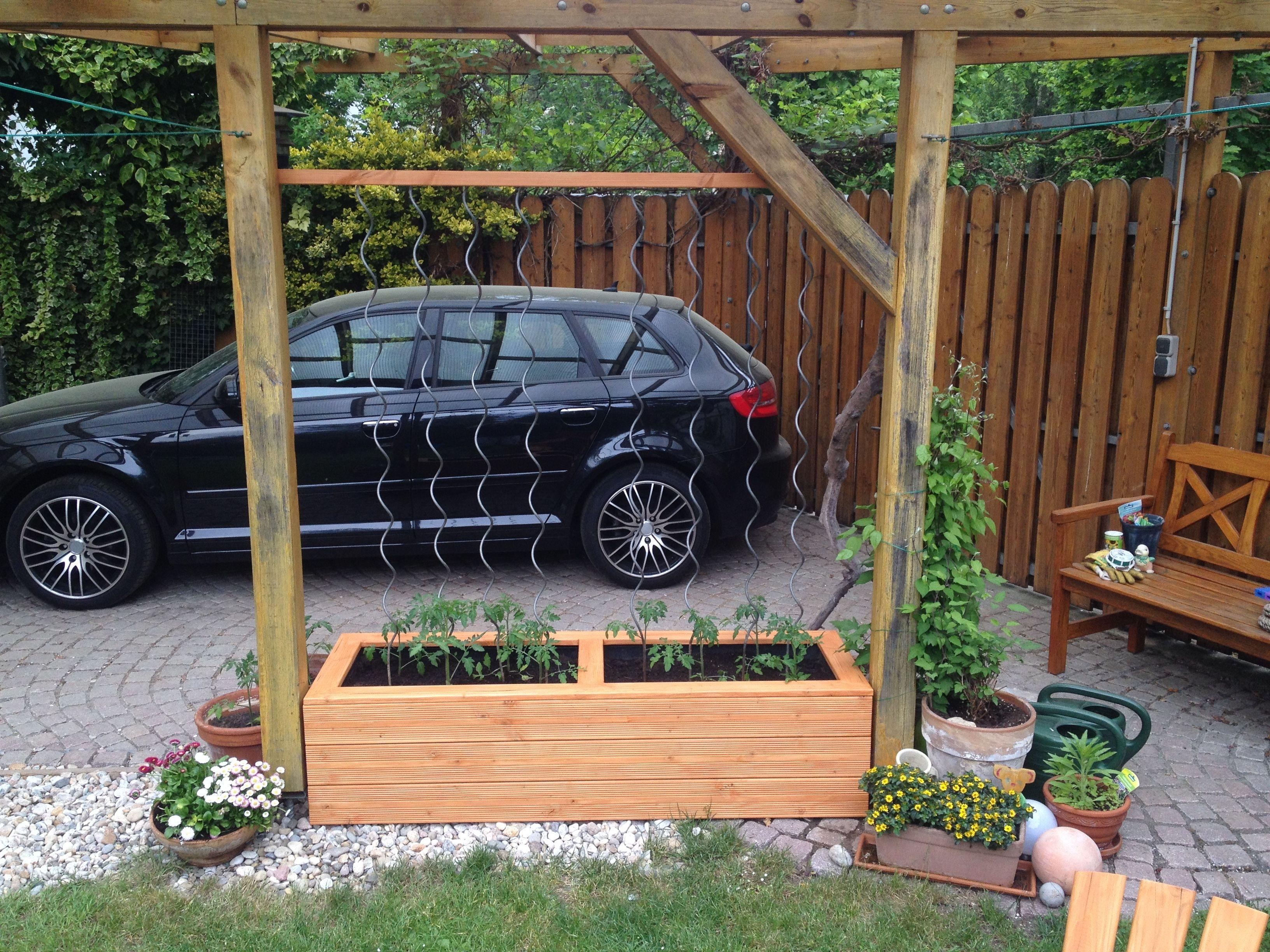 Pflanzkasten Fur Tomaten Bauanleitung Zum Selber Bauen Garten Pflanzkasten Pflanzkasten Pflanzen