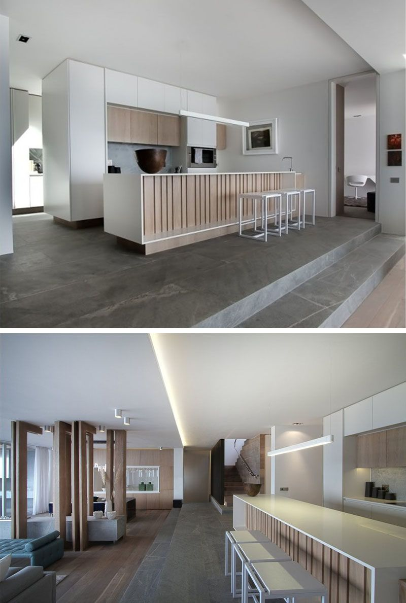 Kitchen island lighting idea use one long light instead of