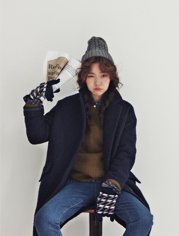 Cranky Korean Tomboy Style Love The Beanie And Blue Coat Pinterest Style Filles Et