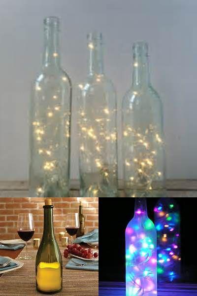 Wine Bottle with Lights Inside Bing images Lighted