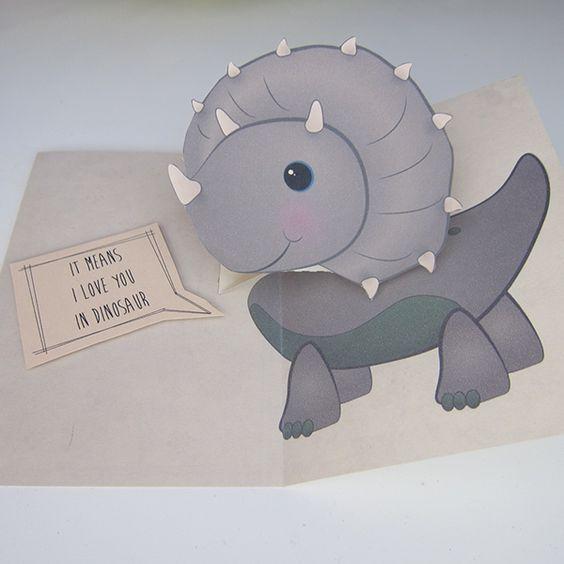 Dinosaur Pop Up Card Free Pattern Tutorial Cards Dinosaur Cards Birthday Cards For Boys