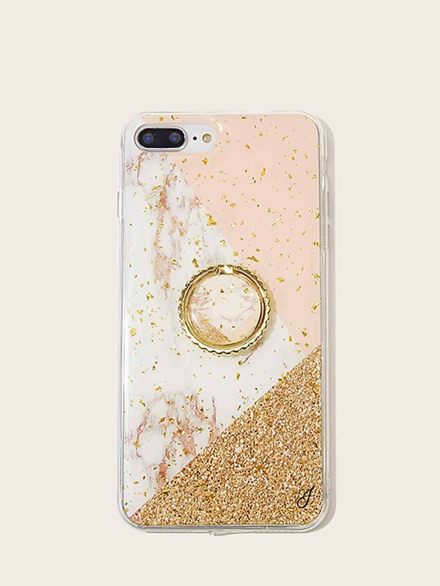 Marble Pattern iPhone Case With Ring | Pattern iphone case ...