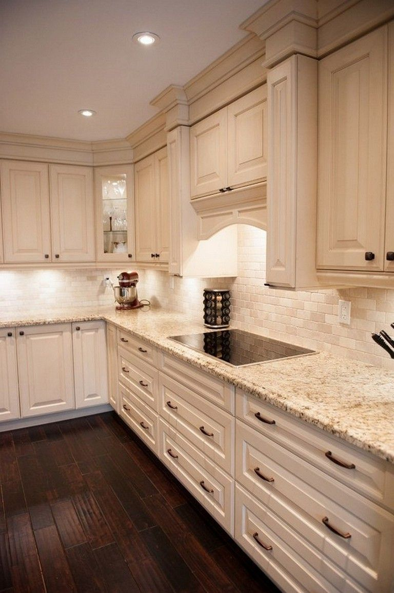 120 Easy And Elegant Cream Colored Kitchen Cabinets Design Ideas Kitchen Backsplash Designs Easy Kitchen Backsplash Cream Colored Kitchen Cabinets