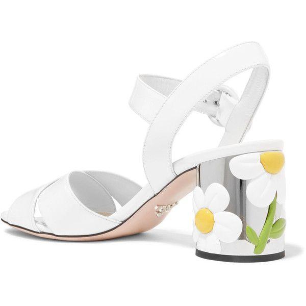 Prada Embellished Patent Leather Sandals buy cheap latest KhR9y6tFU