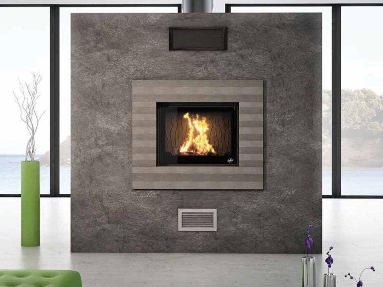 chemin e bois encastr e alba by cheminees seguin duteriez foyers chaleureux pinterest. Black Bedroom Furniture Sets. Home Design Ideas