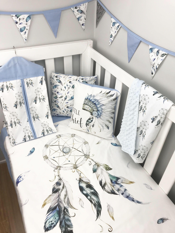 Baby Blanket Nursey Bedding Dream Catcher Crib Bedding set for Girl Dream Catcher Baby Blanket Baby Bedding Dream Big Little One